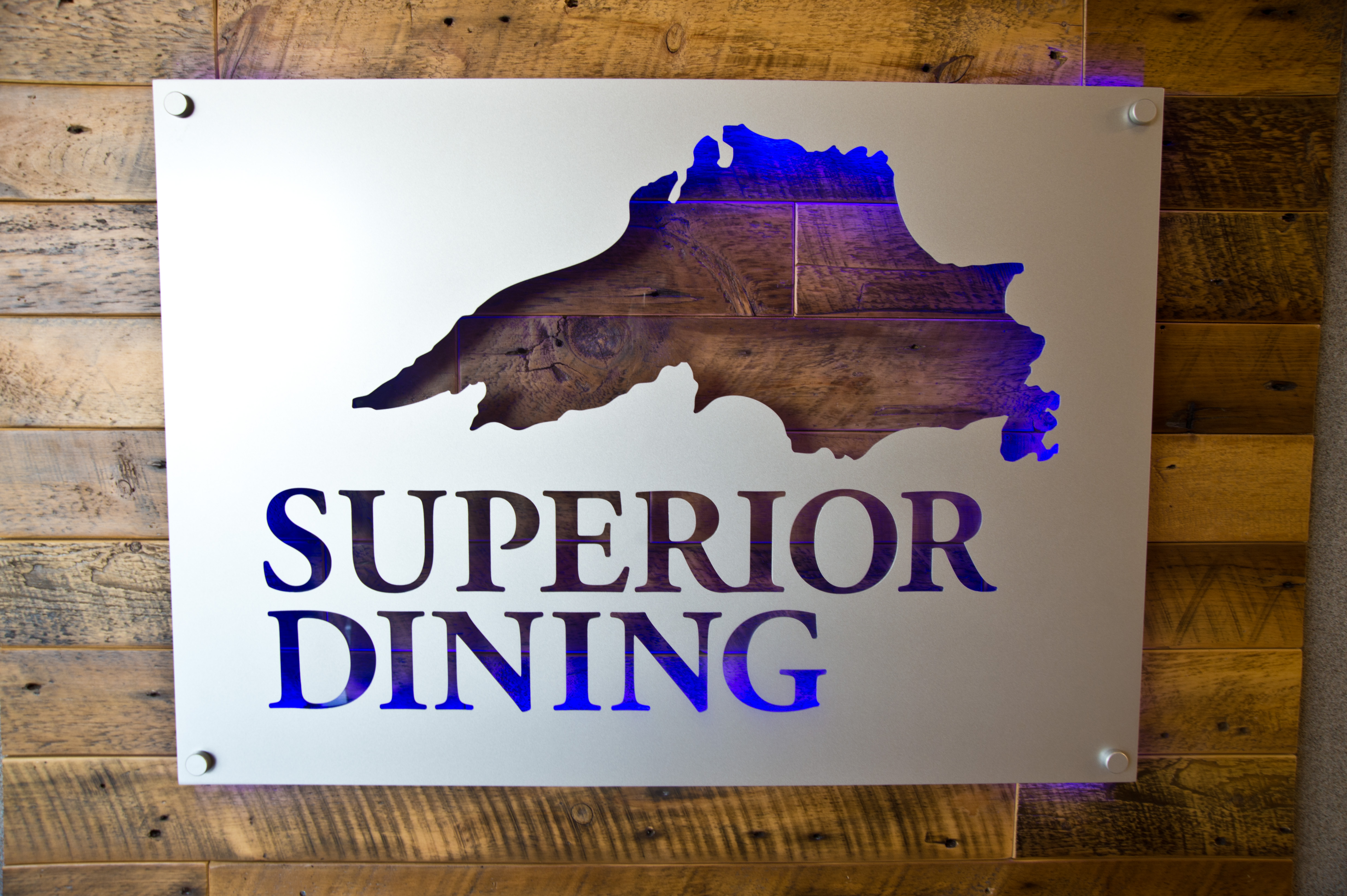 Superior Dining sign